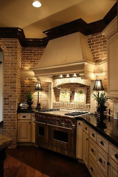 Oak Construction Company - Pinterest - Interior Brick Showcase